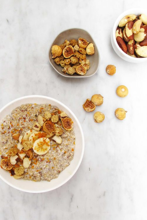 Quinoa Coconut Porridge with COYO coconut yoghurt