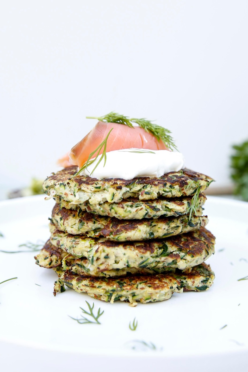 Visit aconsciouscollection.com for more tasty recipes and Brooke's Chocaholic e-book! Just click on these delicious gluten free Zucchini Fritters to be transported